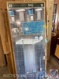 Ove Bathroom Sydney Side Panels with Tempered Glass Shower Door Measuring 48