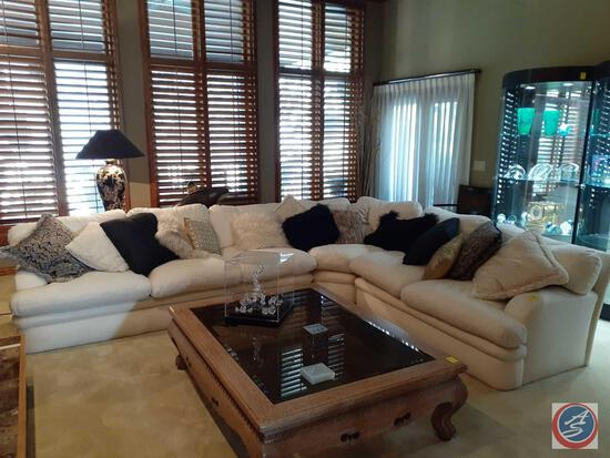Three Piece Allen Furniture L Shaped Couch {{THROW PILLOWS ARE NOT INCLUDED!}} 106'' x 86'' x 40'' x