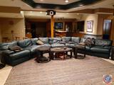 Pearson U Shaped Leather Couch Measuring 96'' x 95'' x 95'' x 39'' x 30''