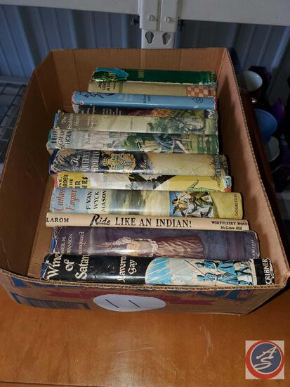 12 Vintage books with nice art work dusk jackets