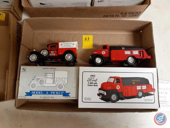 First Gear Die Cast 1953 Ford C-600 with Tanker Body, Liberty Classics Texco Petroleum Ford Model A
