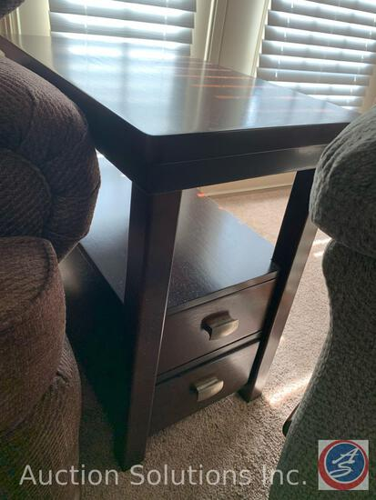 Side Table w/ One Drawer Measuring 14'' x 24'' x 14''