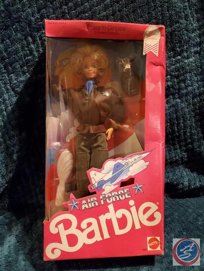 Air Force Barbie 1990 New In Box some significant shelf ware