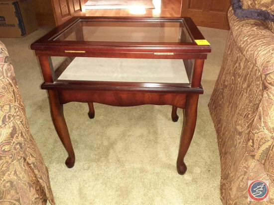 """Bombay Side Table with Shadow Box 23"""" X 22.5"""" X 17.5"""""""