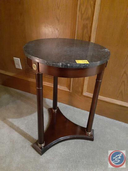 """Marble Top Side Table 25"""" X 19"""""""