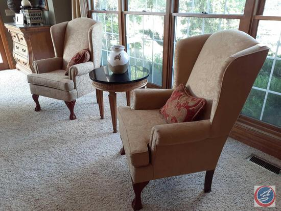 """{{2X$Bid}} Heritage House Vintage Chair with Claw Feet 45"""" Tall"""