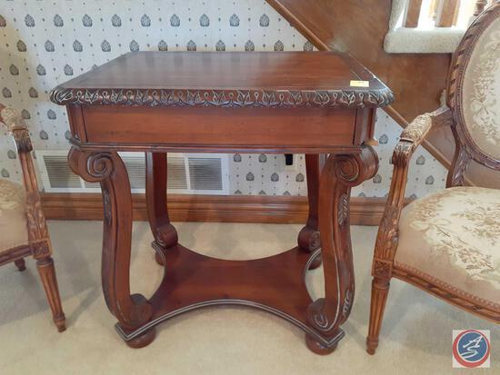 """Butler Game Table Style No. 502A717 Measuring 28"""" X 30"""" X 22.5"""""""