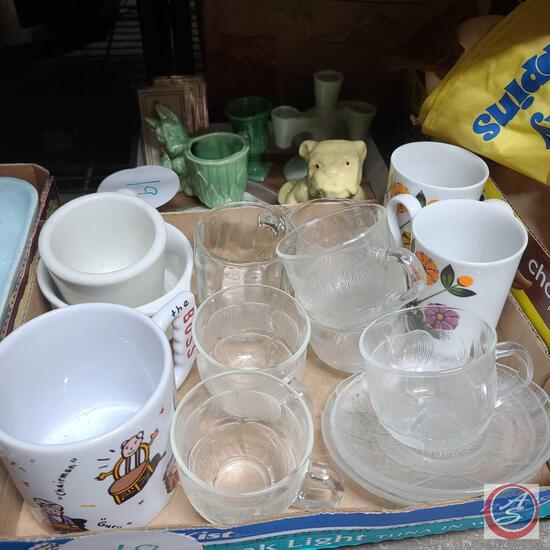 Retro floral mugs, Miscellaneous glassware