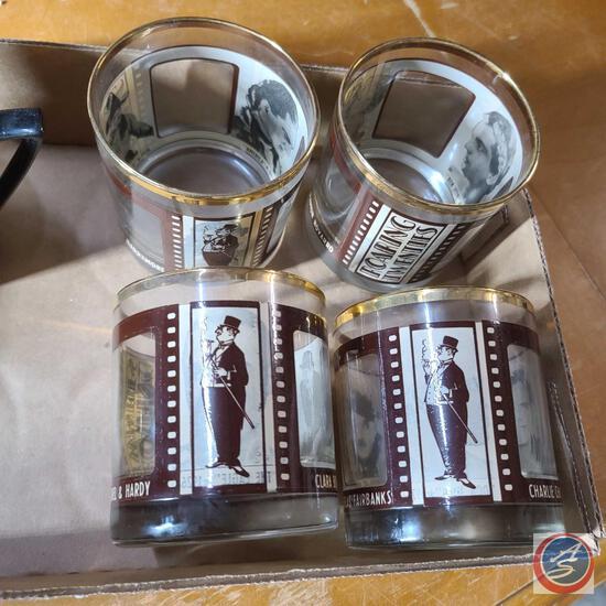 Roaring twenties highball barware glasses