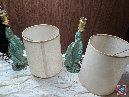 Mid Century Plasto Lamps with fiberglass shades