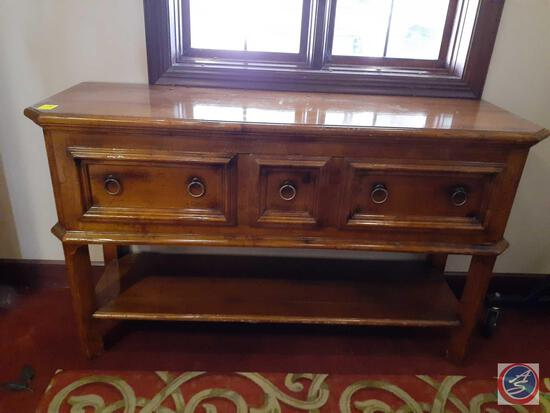 """Wood Entry Way Table with Drawer 58"""" X 18"""" X 35"""""""