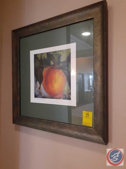 Framed Peach Print by M. Langenechut 56/100
