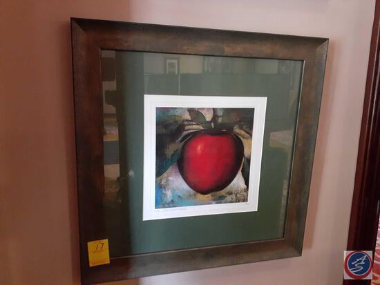 Framed Peach Print by M. Langenechut 53/100