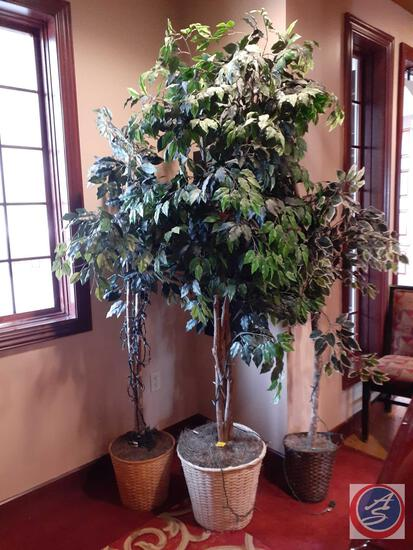 Artificial Trees in Woven Baskets (3)