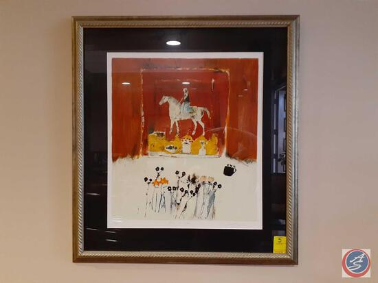 Horse and Rider Framed Print by Leo Dowell 208/250