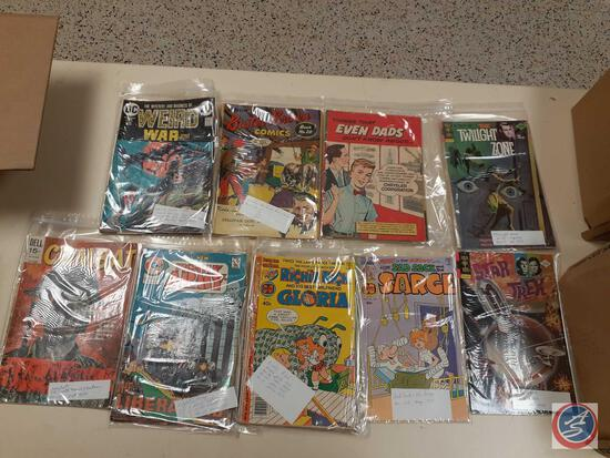 Comic Books In Plastic Including: Weird War Tales From 1973, 1975 and 1976, Things That Even Dads
