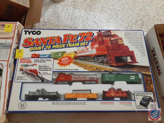 Tyco Giant 72 Piece Train Set in Original Box