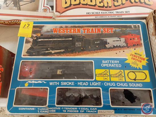 Western Train Set in Original Box