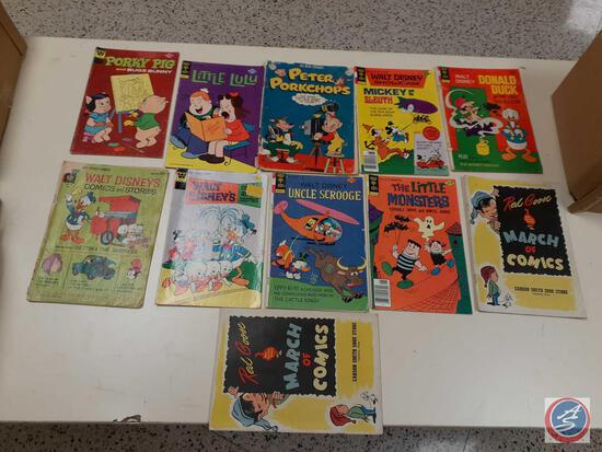 Comic Books in Plastic Including: Red Goose March of Comics, The Little Monsters