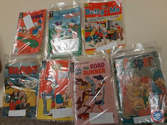 Comic Books in Plastic Including: The Kilroys 1948, 19976-77 Bugs Bunny, 69 and 75 The Road Runner,