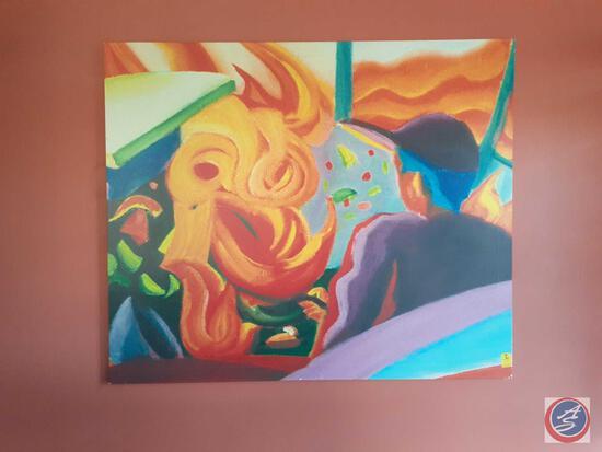 "Large Canvas Print Measuring 59"" X 50"""