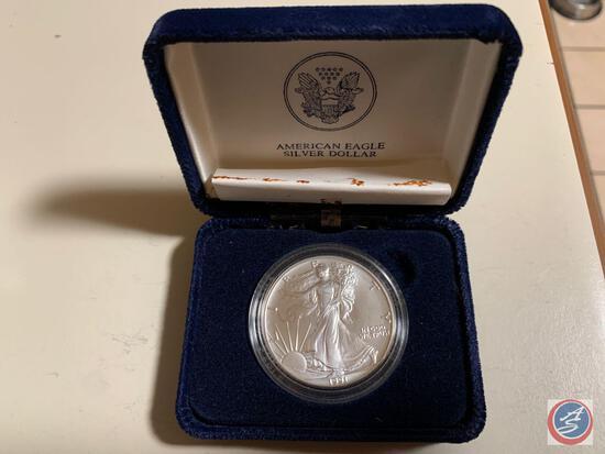 Silver Dollar American Eagle 1991 1 oz fine silver