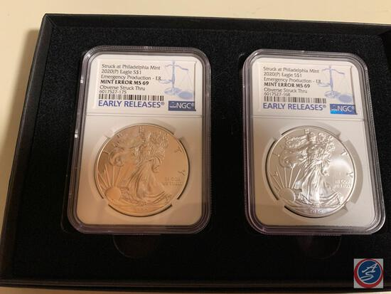 Silver Dollar 2020 (p) (2) Early Releases Struck at the Philadelphia Mint Eagles Emergency