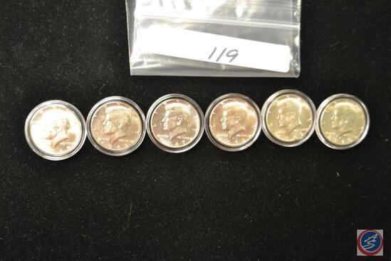 50 cents Silver Kennedy 1965-66-67-68-69-70 (6) coins