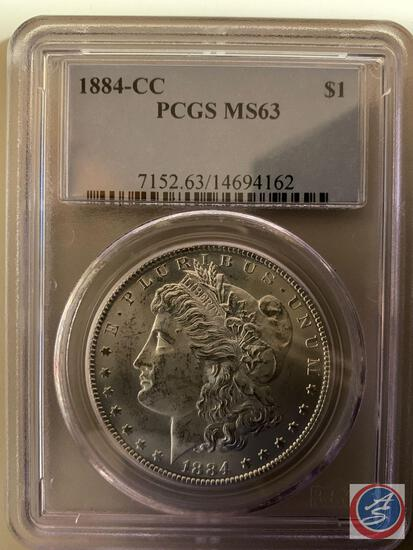 Silver Dollar 1884-CC PCGS slabbed and graded MS63