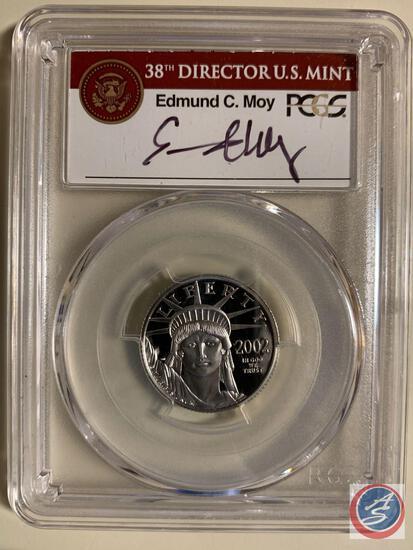 Twenty Five Dollar .9995 Platinum 2002-W PCGS slabbed and graded PR70DCAM