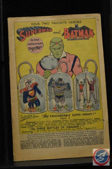 Superman and Batman in One Adventure No. 258 June 1962 Worlds Finest Comics