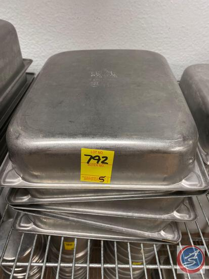 (5) 4.3 Qt Steam Table Pans