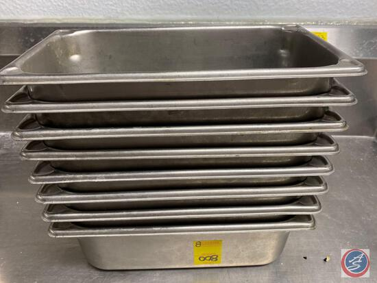 (8) Quarter Size Steam Table Pans