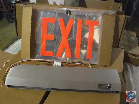 Evenlite Sovereign LED edgelit exit sign, SOVEMR1MBAMUNA