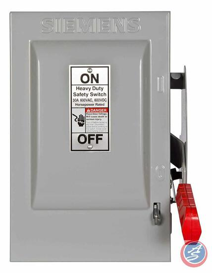 Siemens HNF261 30-Amp 2 Pole 600-volt 2W Non-Fused Heavy Duty Safety Switches