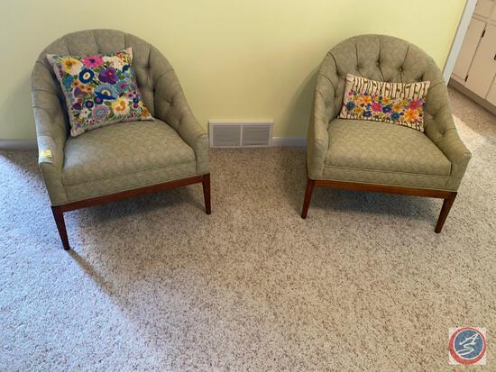 """{{2X$Bid}} Vintage Chair 27"""" Tall with Handmade Pillows"""