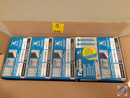 (5 times the money) (5) boxes of Tapcon 1/4 x3 1/4 self tapping concrete screws