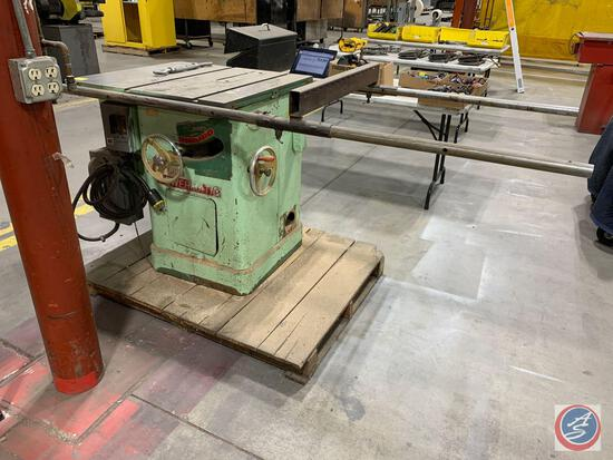 Powermatic Model 65 Industrial Table Saw 220/440 v 3 phase.