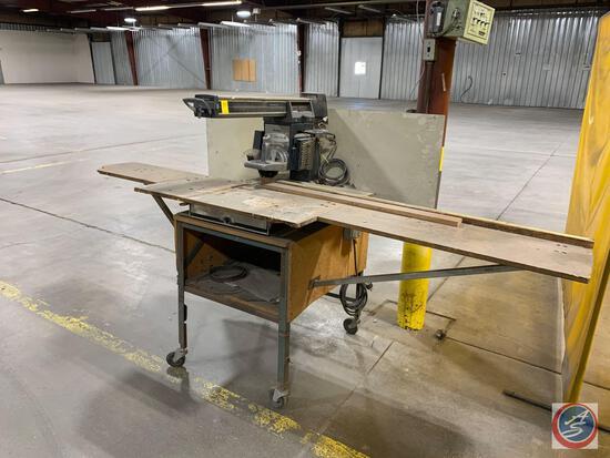 Powerkraft 10 inch radial arm saw.