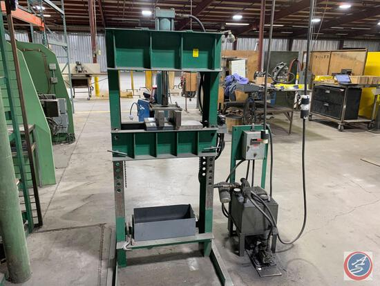Hydraulic Shop Press with power pack 220/440 v 3 phase.