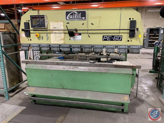 Guifil Model PE-60 66 ton hydraulic press brake with European style tooling and Automec programmable