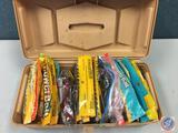 EMCO plastic storage box w/contents included - Berkley power baits