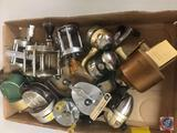 (11) Shakespeare and Bass ProShops fishing reels (used)