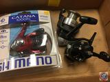 (3) Shimano fishing reels - Cantana 1000FC, FX, and IOXSG (new and used)