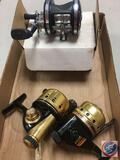 (3) Daiwa and Ambassadeur fishing reels - 80XA, 5600 C4, (used)