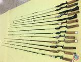(13) Vintage Fishing Rods (no markings) various sizes and styles