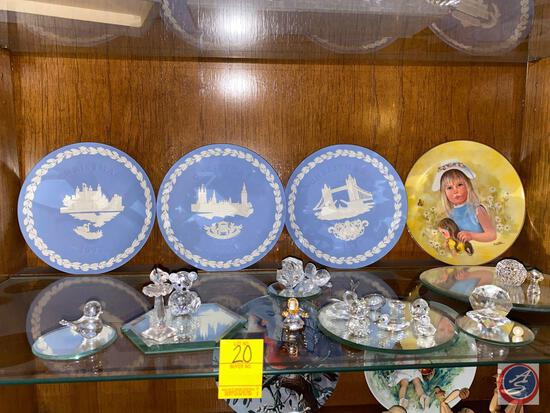 Collectible Glass Miniature Figurines, Collectors Plates