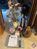 19'' Tea Drop Black/Gold/Amber Vases, Assorted Vases, Philips VCR/DVD Player Model DVP3340V/17