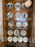 Collectors Plates, One Crystal Wine Glass