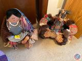 Handcrafted Native American Doll and Handcrafted Native American Basket